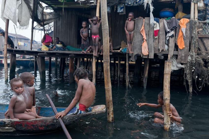 Makoko community in Lagos, Nigeria.