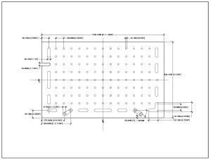 CAD drawing for MFS top.