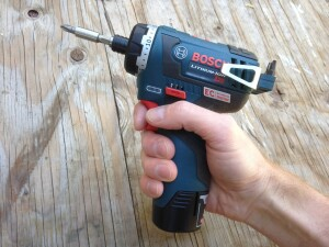 At 5.6 inches long the new hex drill/driver is exceptionally compact.