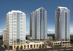 The Bravern complex in downtown Bellevue, Wash., incorporates world-class features such as a piazza.