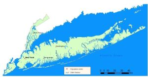Atlantic Ocean/Long Island Sound watershed. Source: New York State Department of Environmental Conservation