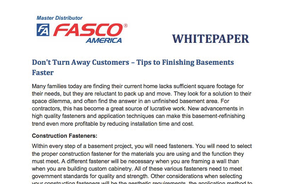 Don't Turn Away Customers – Tips to Finishing Basements Faster