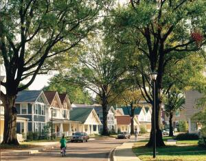 Neighborhood Feel: The College Park Neighborhood in Memphis, Tenn., which earned the firm a 2004 Builder's Choice Award, exemplifies its commitment to mixed-income projects. Replacing a barracks-style public housing complex, the Hope VI grant-funded community offered for-sale and rental units to serve a variety of income levels.