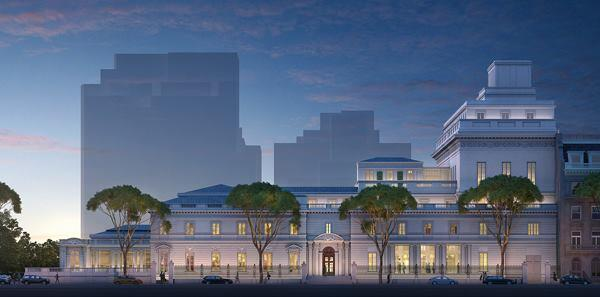 Artist's rendering of the plan's elevation, viewed from 70th Street.