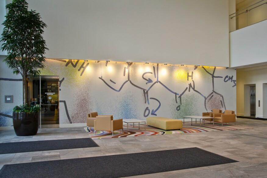 Vertex Pharmaceuticals headquarters lobby.