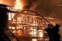 Associated Press Video: Massive Fire in Los Angeles