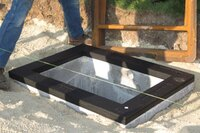 Layering system for manhole grade adjustment