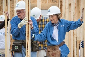 Jimmy and Rosalynn Carter at a one-day build last year in Memphis.