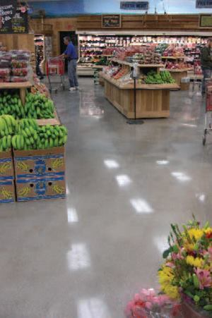 The owner of an organic grocery store in Southern California wanted a long-lasting, low-cost, polished concrete floor.
