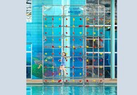 Kersplash (Crystal Clear or Color) Pool Climbing Wall