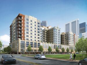 A rendering of 2020 Lawrence   in Denver. The 231-unit property is scheduled to open by year's end.