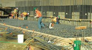 Hycrete was used to waterproof the foundation of the University of Washington-Medicine  building in Seattle, which actually sits 8-ft below the water table. The  photo below shows water beading up on the concrete.