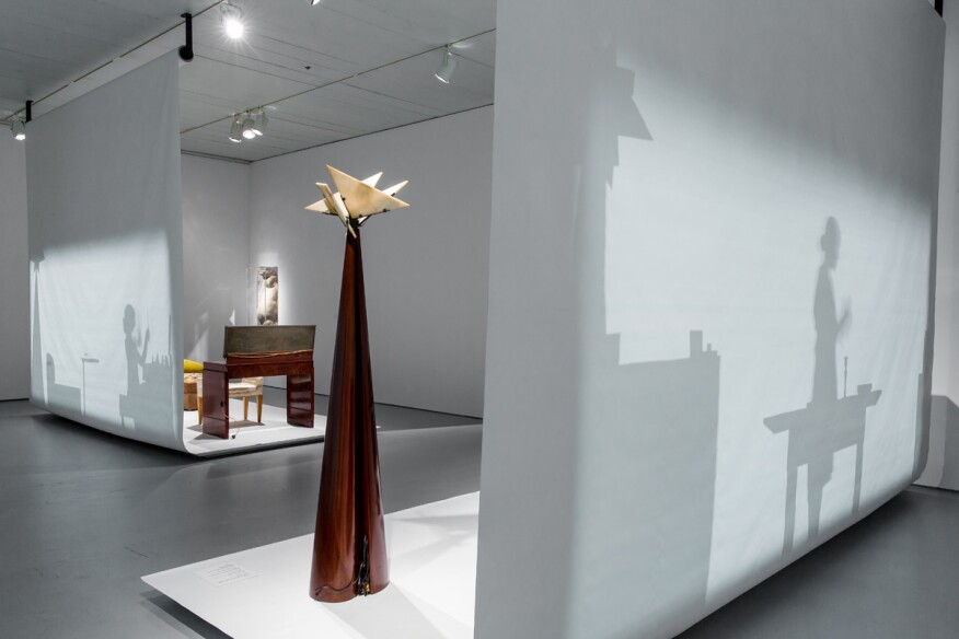 Exhibition view of Pierre Chareau: Modern Architecture and Design at The Jewish Museum, NY