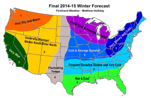 Firsthand Weather's prediction for the 2014/2015 winter season.