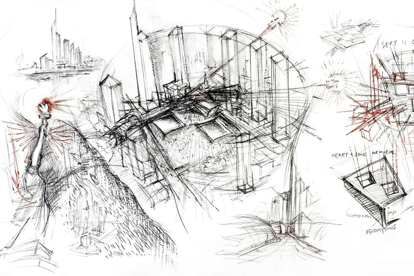 In Rome, 52 Daniel Libeskind Drawings On Exhibit