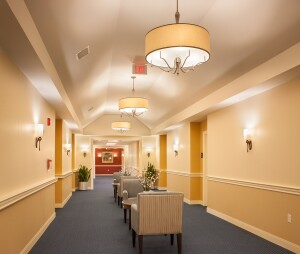 Stonebridge at Burlington's memory care includes a special wing for residents dealing with dementia-related issues.