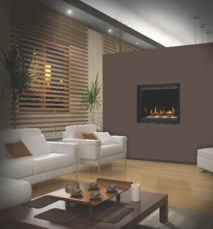 Manufacturer photoNapoleon Fireplaces. A clean face design and exclusive Crystaline ember bed gives the Crystallo fireplace a contemporary look.