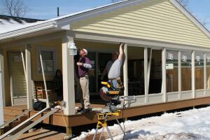 Being a vinyl-siding contractor as well as a deck builder, I'm interested in low-maintenance alternatives, so now I use storm doors made of aluminum instead of wood for the panels.