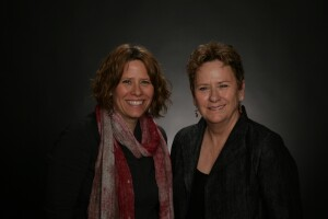 Sarah Henry Gaspar, general manager of Gaspar's Construction, with Cathy Gaspar