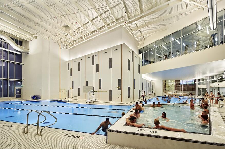Purdue university france a cordova recreational sports center architect magazine moody for Interior design lafayette indiana