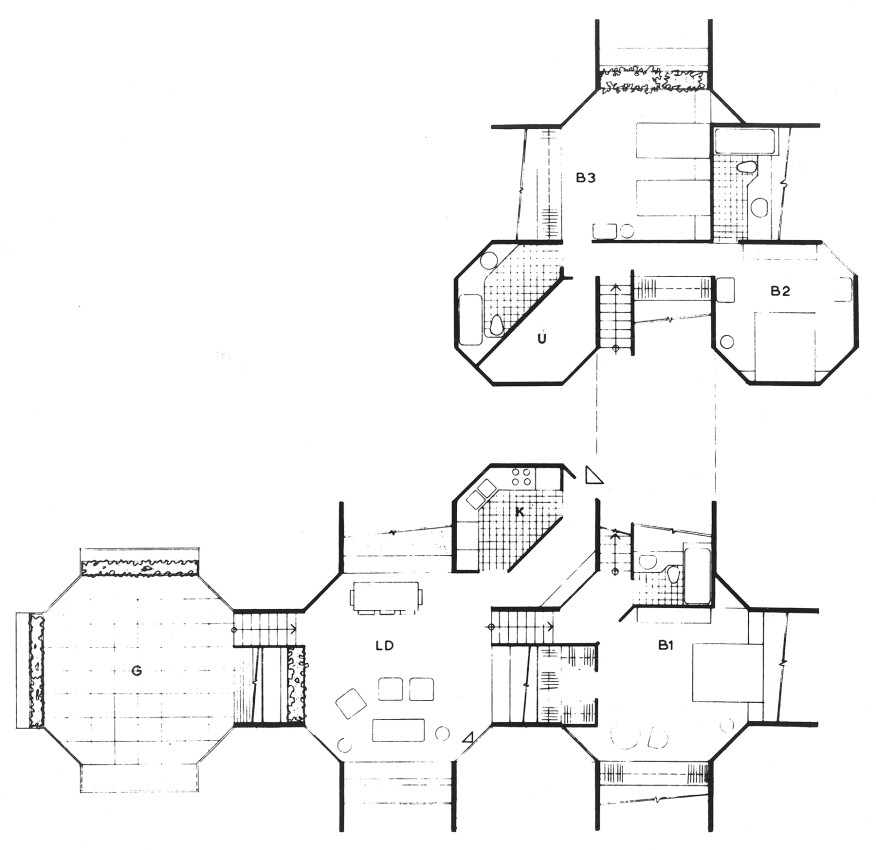 Typical unit plan from the unbuilt Habitat New York project