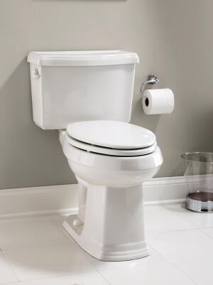 GERBER. The company has expanded its affordable Allerton bathroom suite with the addition of a 1.28-gpf high-efficiency toilet, currently awaiting WaterSense certification. Featuring a dual-fed siphon jet for an exceptional flush, the unit comes with a 3-inch flush valve and 2-inch fully glazed trapway. It is available in bone, white, and biscuit. 866.538.5536. www.gerberonline.com.