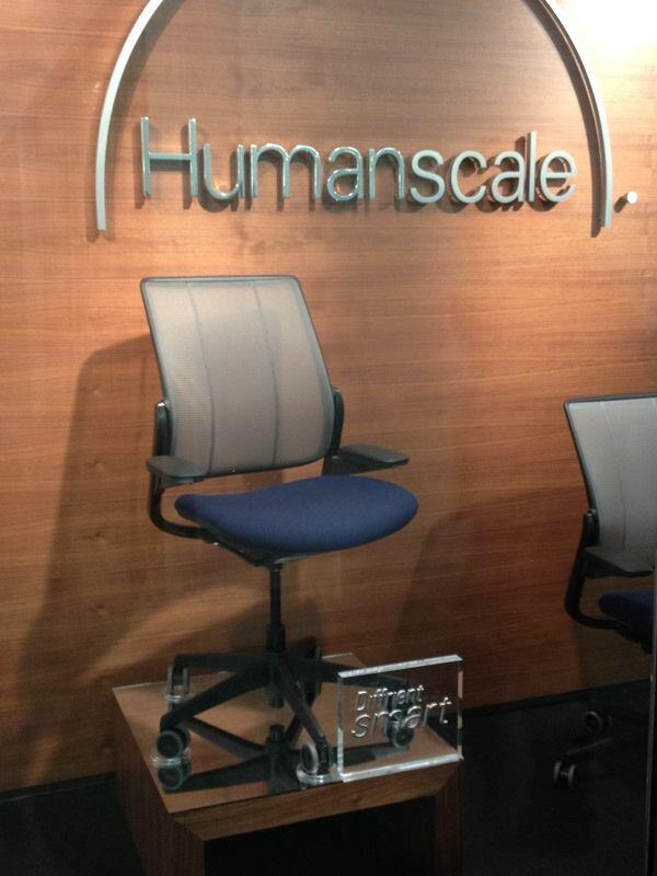 The Diffrient Smart chair at NeoCon 2013.