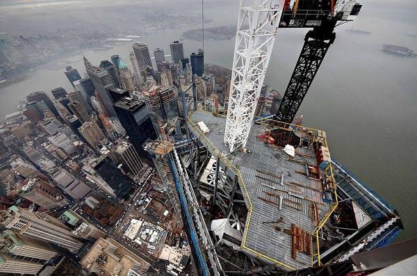 A view from the north crane at the top of One WTC, courtesy of @WTCProgress.