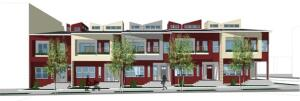 A view of how Merlucci's design will appear as a block of five townhouses.