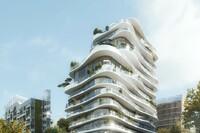 MAD's Parisian Housing Design with Curvy Floors