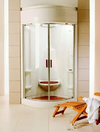 Homeowners prefer: the shower component, like the Bain Ultra Temazkal shown, to be separate from the bathtub ...