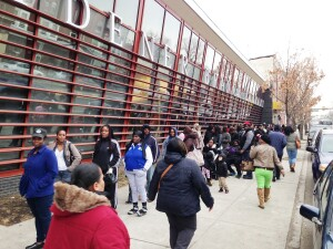 More than 400 prospective residents applied for one of 12 new apartments being built by the Philadelphia Housing Authority. The hopefuls began lining up as early as 1 a.m.