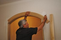 Installing Arched Casing