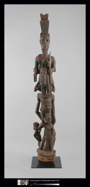 A Yoruban veranda post.