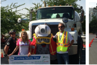 LaFarge Canada Schools Cyclists on Concrete Truck Blind Spots