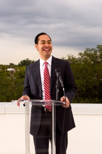 Julian Castro at St. Dennis in Washington, D.C.