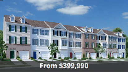 Beazer town homes in the Washington D.C. area.