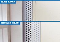 Using Shower Bead to Span Large Drywall Gaps Around Windows
