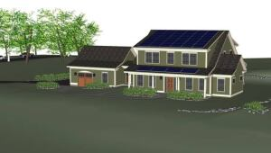 The NIST Net-Zero Energy Residential Test Facility is modeled after homes typical to the Washington, D.C., area. The two-story 2,700-square-foot residence will include three or four bedrooms, three bathrooms, a basement, and a detached garage.
