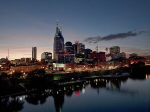 The Nashville skyline at sunset. The city's metropolitan area only has a 14-month housing supply, far below the rate that Metrostudy recommends.