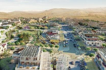 Sasaki Associates designed this master plan to foster a tourism-based economy along the Dead Sea.