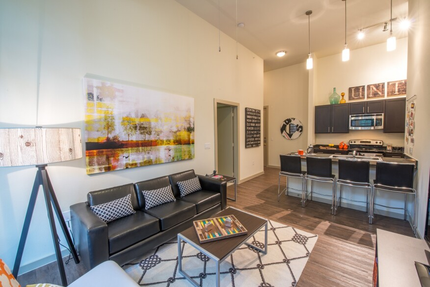 Apartment units at 33 North are suite style.