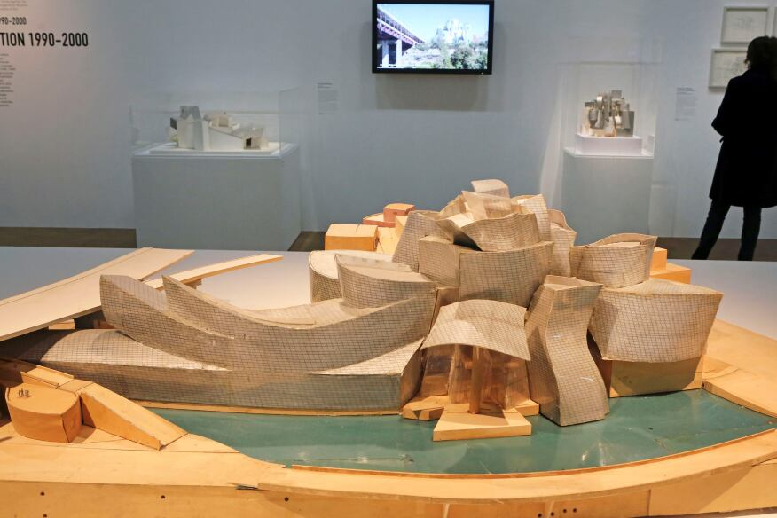 A retrospective of Frank Gehry's work opens at Paris's Pompidou Center this week. The exhibition includes this model of the Guggenheim Museum in Bilbao, Spain.