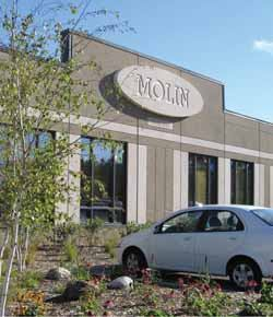 Molin Concrete's campus lies within the Rice Creek Watershed District. As part of the project, the producer restored and enhanced an existing wetland area with native vegetation.