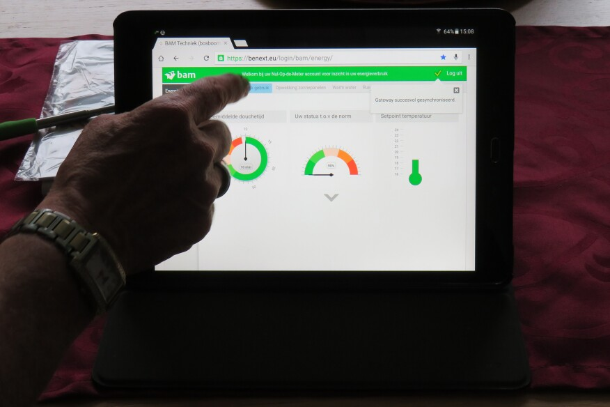 A dashboard for tenants to access their energy use.
