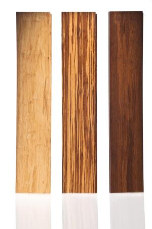 """Smith & Fong Co. has launched PlybooStrand bamboo plywood and flooring. This FSC-certified line is available in panel thicknesses of 3/16"""", 1/2"""", and 3/4"""", and flooring thicknesses of 3/8"""" and 9/16"""". Both types are offered in Havana, Sahara, and Neopolitan finishes. No urea-formaldehyde is used in the production process. ¢ plyboo.com"""