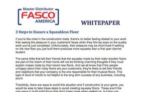 3 Steps to Ensure a Squeakless Floor