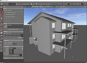 IFC file of a building project imported in DIALux evo