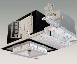 IRiS Square Recessed Downlight SeriesCooper Lightingwww.iris-lighting.com  Series of recessed luminaries with 4-inch-square apertures Two-stage optical system allows for better light control and low-aperture brightness - Steel collars can be rotated 7.5 degrees in either direction for precise alignment - Accepts tungsten-halogen, compact fluorescent, and ceramic metal halide lamps - Available 2-inch-square aperture pinhole trims allow for minimized ceiling presence