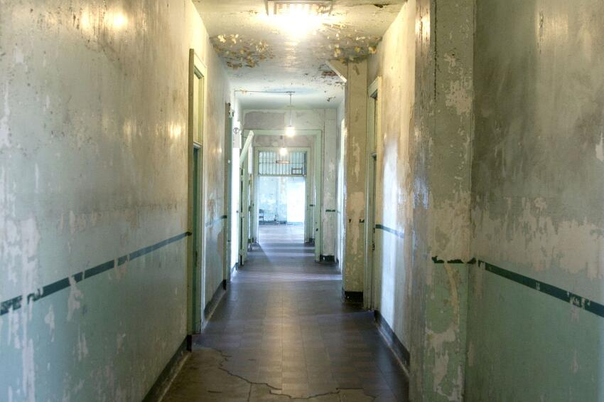 Hallway in the hospital.